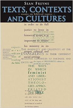 Book Texts, Contexts and Culture: Essays on Biblical Topics