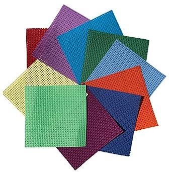 Cuadrados de Binca de colores (paquete de 10) tela de punto de cruz de 6 unidades – 100% algodón – 15 x 15 cm: Amazon.es: Amazon.es