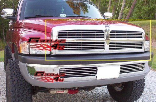 APS Fits 1994-2001 Dodge Pickup Main Upper Billet Grille Insert #D85030A (Pickup Grille Upper Billet)