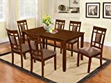 Solid Wood Dining Room Sets The Room Style 7 piece Cherry Finish Solid Wood Dining Table Set