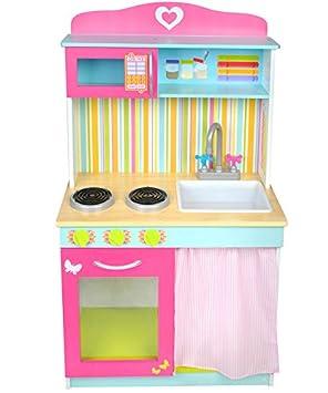 Malatec Bunte Kinderkuche Aus Holz Spielzeugkuche Holzkuche