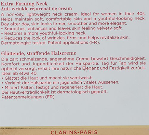 Clarins Extra-Firming Neck Anti-Wrinkle Rejuvenating Cream, 1.6 Ounce by Clarins (Image #4)