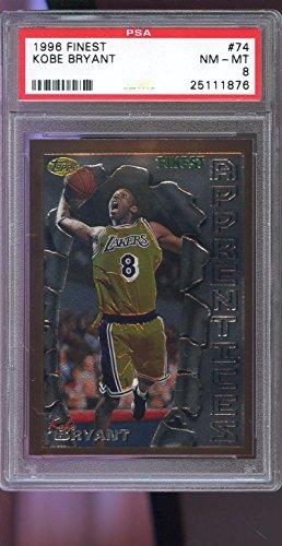 Topps Finest Insert - 1996-97 Topps Finest #74 Kobe Bryant ROOKIE RC NMMT PSA 8 Graded Basketball Card