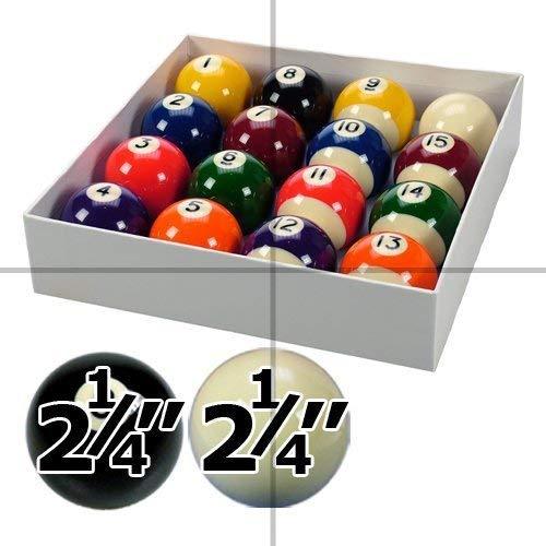 Spots and Stripes - Juego de bolas de billar (5,7 cm de diá metro, bola blanca de 5,9 cm de diá metro) 7 cm de diámetro 9 cm de diámetro) IQ