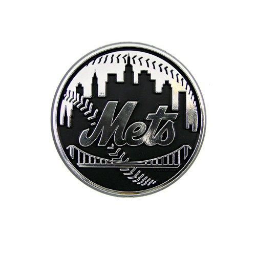 MLB New York Mets Chrome Automobile Emblem ()