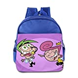 Toddler Kids The Fairly Oddparents School Backpack Funny Baby Boys Girls School Bags RoyalBlue