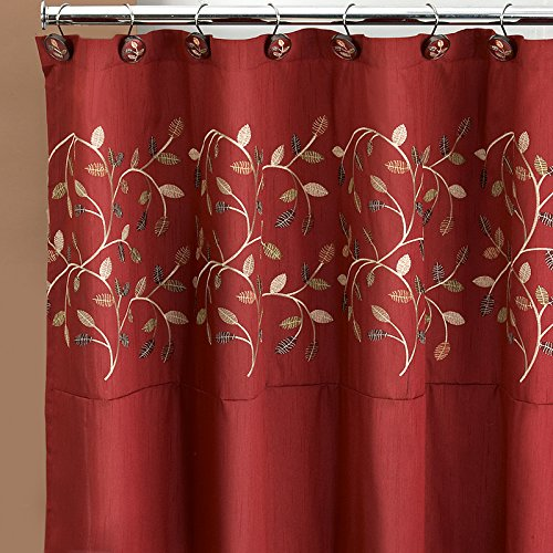 wine colored shower curtain. Popular Bath Aubery Shower Curtain  Burgundy Amazon com