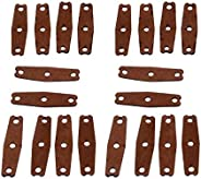 5pcs Slingshot Pouches Light Soft Microfiber Leather Brown 55mm for Hunting Exercise