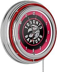NBA Chrome Double Ring Neon Clock, 14-Inch