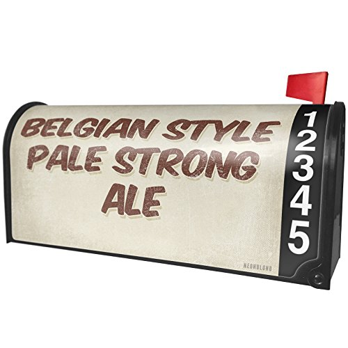 NEONBLOND Belgian Style Pale Strong Ale Beer, Vintage style Magnetic Mailbox Cover Custom Numbers