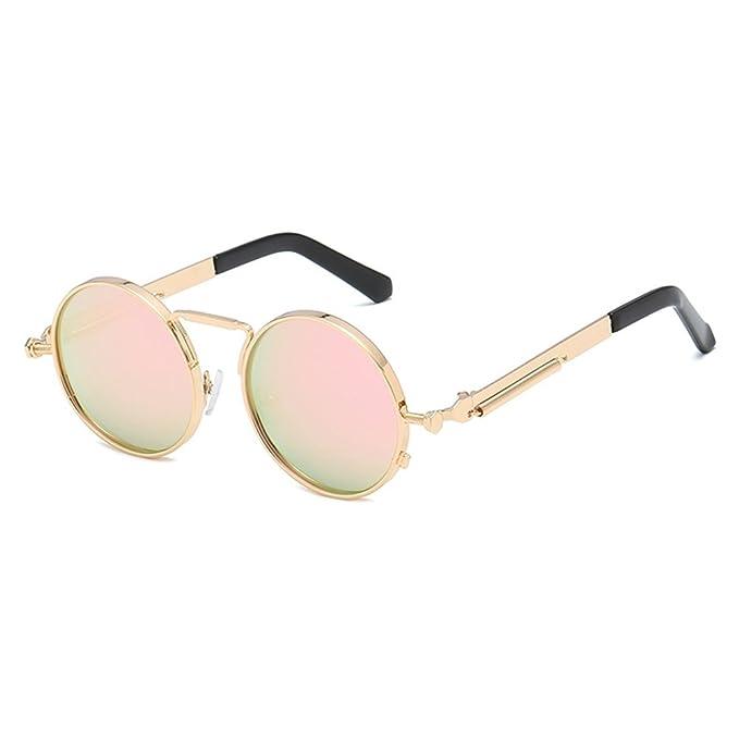 Highdas Gafas de sol polarizadas Hombres Gafas de sol redondas Gafas de sol de metal mujeres redondas: Amazon.es: Ropa y accesorios