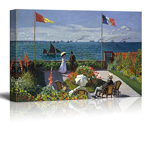 Famous Painting of Garden at Sainte Adresseby Claude Monet Gallery