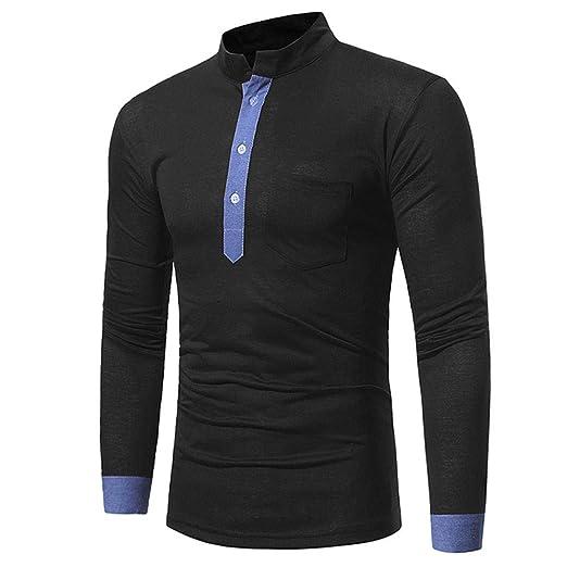 Qiusa Camisa de Polo para Hombre para Hombre Camiseta de Manga ...