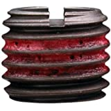 "E-Z Lok Externally Threaded Insert, C12L14 Carbon Steel, Meets AISI 12L14, 7/16""-14 Internal Threads, 5/8""-11 External Threads, 0.656"" Length, Made in US (Pack of 5)"