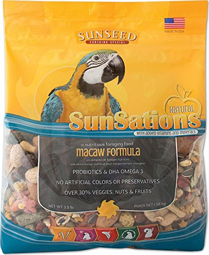 SUNSEED COMPANY 079752 Sunsations Foraging Food for Macaw, 3.5 Pound