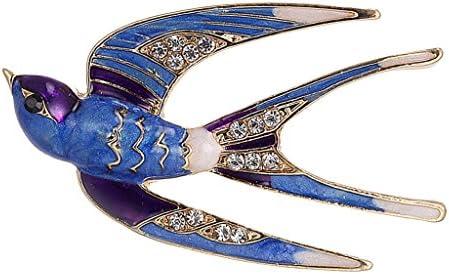 [해외]Fenteer 전 3 색 브 로치 제비 모양 코 사지 핀 쥬얼리 의상 액세서리-파랑 / Fenteer All 3 Colors Brooch Collar Pin Jewelry Costume Accessories - Blue