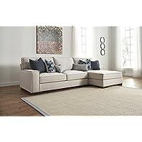 Kendleton Contemporary Stone Color Fabric Sectional Sofa