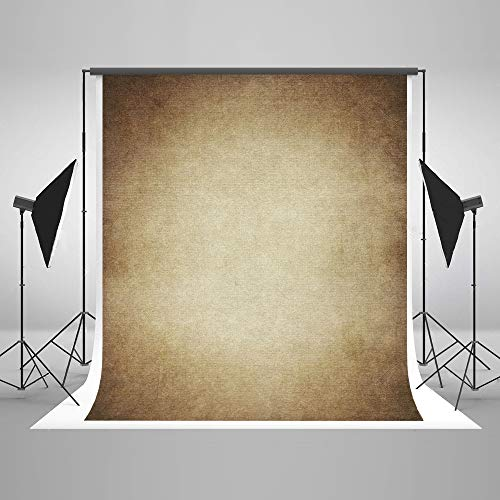 (6.5ft(W) x10ft(H) Brown Portrait Photo Backdrop Muslin Studio Abstract Grunge Background Old Paper Photo Studio Booth Props for Photography Seamless Free Wrinkles)