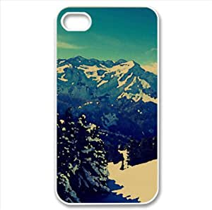 Winter Scenery Watercolor style Cover iPhone 4 and 4S Case (Winter Watercolor style Cover iPhone 4 and 4S Case)