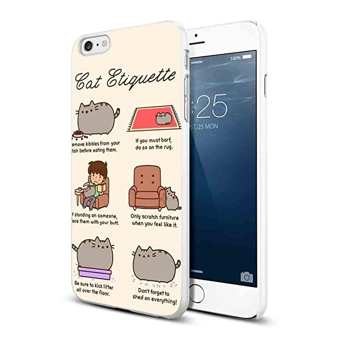 low priced c0e10 d3367 Amazon.com: Pusheen Cat for iPhone Case (iPhone 6/6s white): Cell ...
