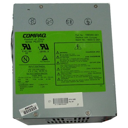 166572-001 200 Watt Power Supply Deskpro 4000 6000...