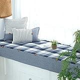 SQINAA Erker anti-rutsch-matte,Baumwolle fenster kissen balkon sitzmatte schwebende fenster decke matte sofa slipcovers-F 70x150cm(28x59inch)