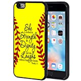 iphone 6 protective case softball - iPhone 6S Plus Case,iPhone 6 Plus Case,AIRWEE Slim Fit Scratchproof Soft Silicone TPU Protective Case Cover for iPhone 6/6S Plus (5.5 inch),Bible Verse Proverbs 31:25 Softball