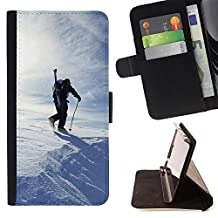 For LG G4,S-type Winter Skiing - Drawing PU Leather Wallet Style Pouch Protective Skin Case
