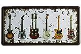 Sumik Guitar Rock Music Metal Tin Sign, Vintage Art Poster Plaque Bedroom Den