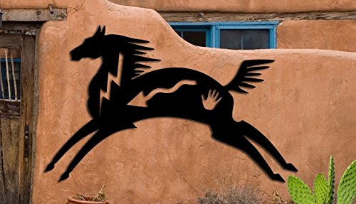 Horse - Southwest Design - Home & Garden - Large (20 w x 12 1/2 h) Metal Art - Indoor - Outdoor Hand Made USA