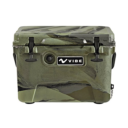Vibe Element 20 Quart Rotomolded Hard Shell Cooler with Bottle Opener, Hunter Camo