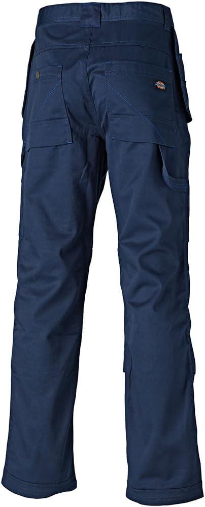 Dickies New REDHAWK PRO Mens Multi Pocket Workwear Trouser With Knee Pad Pockets Hammper Loop Rule Pocket WD801 BLACK 30T