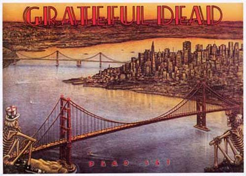 Grateful Dead Dead Set, View of San Francisco Music Poster Print