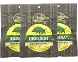 Original All Natural Boar Jerky - 3 PACK - The Best Wild Game Hog Jerky on the Market - 100% Whole Muscle Boar - No Added Preservatives, No Added Nitrates and No Added MSG - 6 total oz.