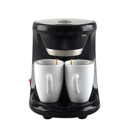 YSCCSY Máquina De Café Mini Doble Uso Eléctrico Máquina Automática De Café 2 Tazas De Café