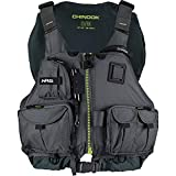 NRS Chinook Fishing Kayak Lifejacket (PFD)-Charcoal-XS/M
