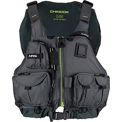 NRS Chinook Fishing Kayak Lifejacket (PFD)-Charcoal-XS/M