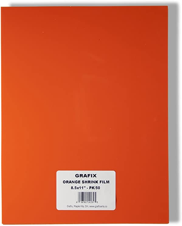 Metallic Silver Grafix KSF50-SL 8-1//2-Inch by 11-Inch Shrink Film 50-Pack New!