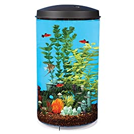 Koller Products AquaView 6 Gallon 360 Fish Tank with Power Filter & LED Lighting