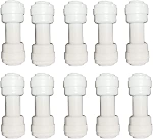 Malida 3/8 inch Tube to 3/8 inch Tube Push fit Straight Quick Connect for RO Water System (10pack)