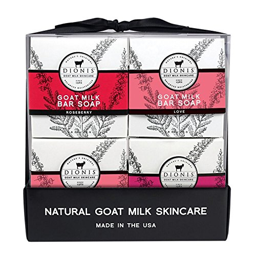 Dionis Goat Milk Skincare Bar Soap 4 Piece Gift Set - Sweet Sentiments