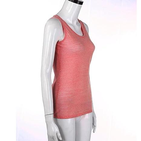 IMJONO T-Shirt Frauen Sommer Spitze Weste Top Sleeveless beiläufige Tank  Bluse Tops(Wassermelonenrot,EU-40 CN-XL)  Amazon.de  Bekleidung 4e16510a4c