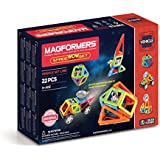 Magformers Space Wow Set (22 Piece) Magnetic    Building      Blocks, Educational  Magnetic    Tiles Kit , Magnetic    Construction  STEM Toy Set Includes Wheels