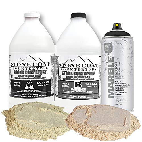 Stone Coat Countertops 1 Gallon Kit with Marble Spray and Pearl Metallics