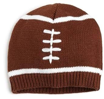 Mud Pie Baby Boys' Football Hat, Brown/White, 12 18 Months