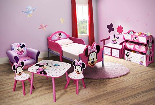 Scrivania In Legno Minnie Mouse : Minnie mouse sitzbank & schreibtisch mit stauraum rosa : amazon.de