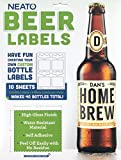 Neato Blank Beer Bottle Labels - 40 pack - Water Resistant, Vinyl, For InkJet Printers