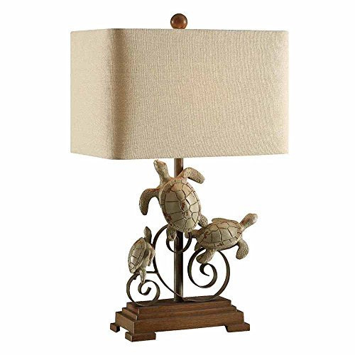 (Crestview Collection Turtle Bay Resin and Metal Table Lamp)