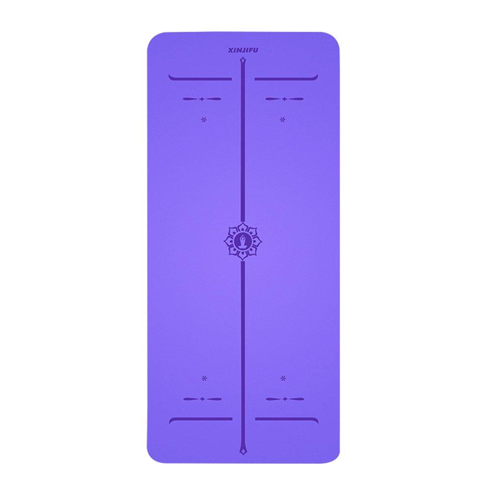 QIDI Yogamatte Fitness Richtlinie Rutschfest Gummi Aerobic-Matte 183  80  1cm (Farbe : lila)