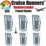 Cruise Runners - Cruise Plastic Flask Kit Rum Runner Sneak Alcohol Smuggle Liquor Booze 3 32oz.- 3 16oz.